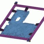 Cadre de manutention de panneaux composites / Composite panels handling frame